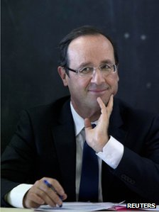 Francois Hollande in Bonneuil-sur-Marne, Paris, 20 February