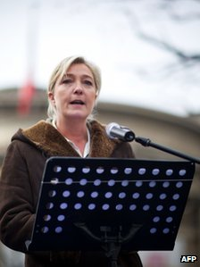 Marine Le Pen in Paris, 13 February