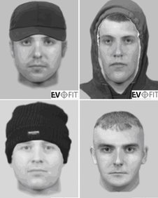 If anyone recognises any of these men they should call 0800 0281111.