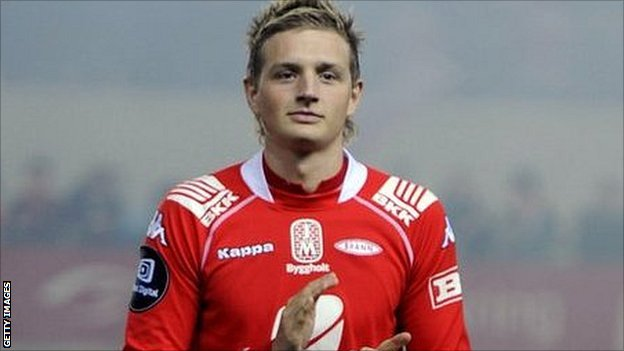 Norwegian striker Erik Huseklepp