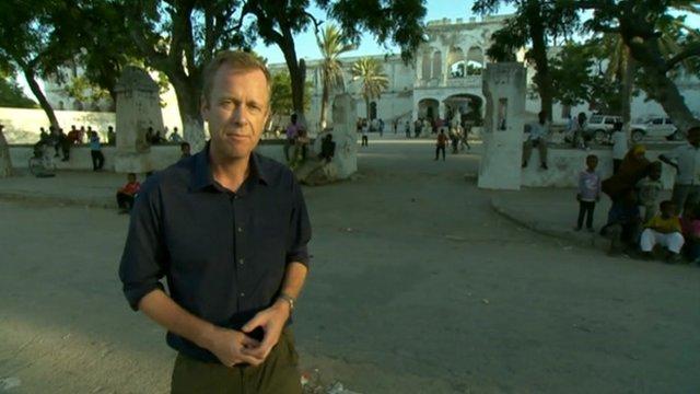Andrew Harding in the centre of Mogadishu