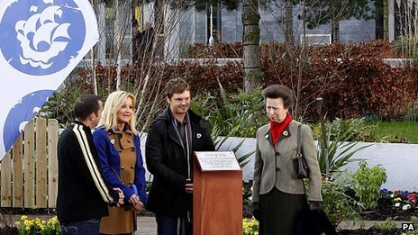 The Princess Royal opens the Blue Peter Garden