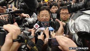 Proview lawyer Xie Xianghui outside court