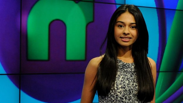 Newsround presenter Nel Hedayat