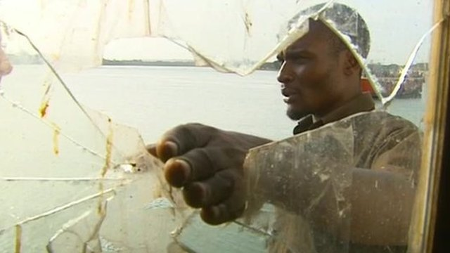 Kenyan fisherman recalling the moment his vessel was attacked