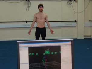 Motion capture of dancer Riley Watts