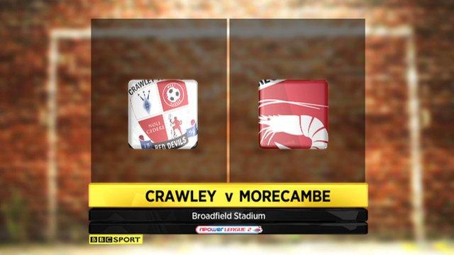 Crawley 1-1 Morecambe