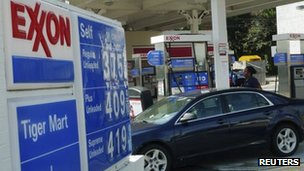 An Exxon petrol station in Arlington, Virginia 31 January 2012