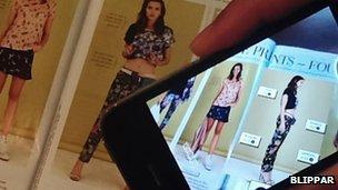 Blippar scanning a magazine