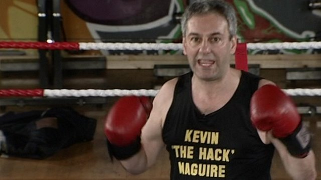 Kevin Maguire in boxing ring