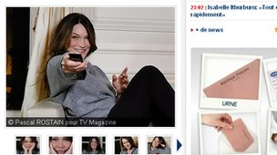 The Carla Bruni interview on the Figaro TV Mag website