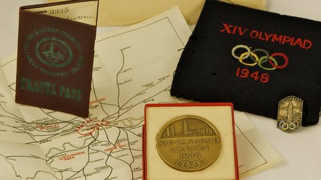 Volunteer memorabilia from the 1948 Olympic Games