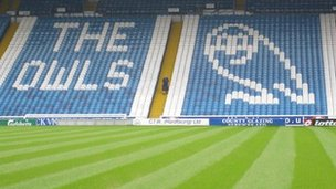 Seats inside Sheffield Wednesday ground