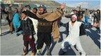 Afghan demonstrators shout anti-US slogans during a protest against Koran desecration in Kabul