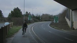 Cycle path on the Lewes Road
