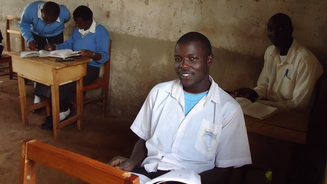 Pupils at school in Mount Elgon district, Kenya