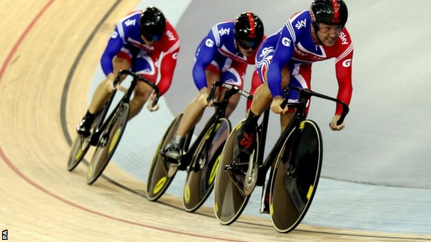 Ross Edgar, Jason Kenny and Sir Chris Hoy