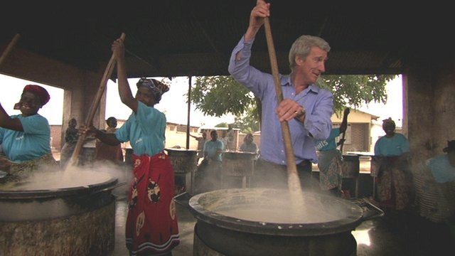 Jeremy Paxman makes porridge