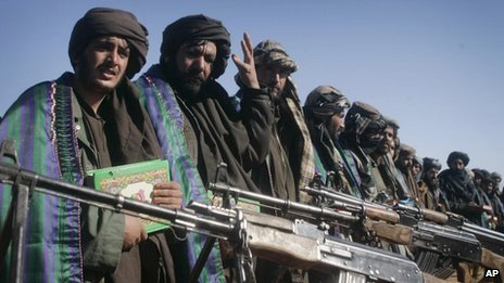 Former Taliban militants in Herat, Monday Jan 30, 2012.