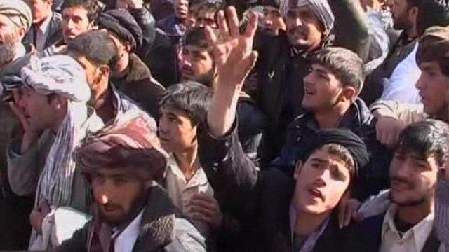 Protestors in Afghanistan