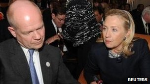 William Hague, Hillary Clinton
