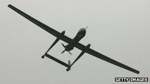 The Eitan, the Israeli Air Force's latest generation of Unmanned Aerial Vehicle (UAV), flies over a ceremony introducing it into the 210th UAV squadron on February 21, 2010 at the Tel Nof air base in central Israel. The Eitan, or Heron TP, weighs in at 5,000 kgs and has a 26 meter wingspan. It can carry a heavy payload, is equipped with more advanced technological systems than its predecessors and has a 20-hour high-altitude flying time.