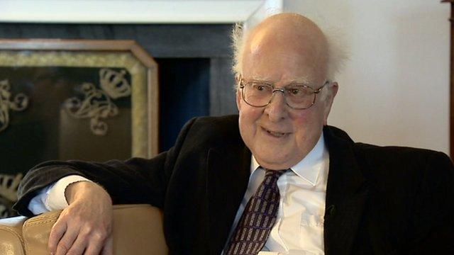 Theoretical physicist, Peter Higgs