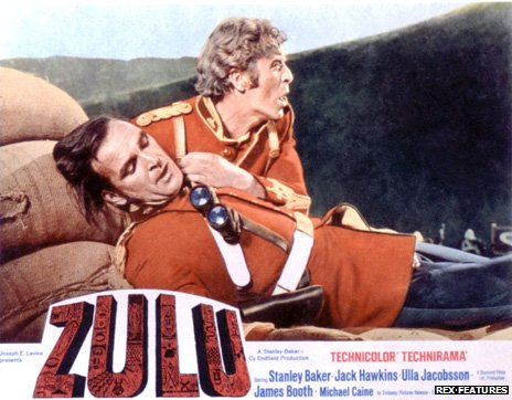 Lt John Chard (played here by Stanley Baker) and Lt Gonville Bromhead (Michael Caine) in the film Zulu