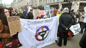 Disabled groups protest