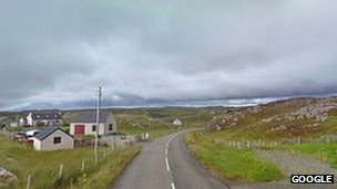 A858, Carloway to Callanish Road, at Kirivick Pic: Google