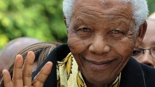A picture taken on April 22, 2009 shows South African former President Nelson Mandela in Johannesburg