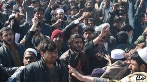 Angry protests in Kunduz on Saturday over the Koran burnings