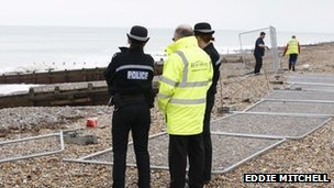 Emergency teams at Worthing beach (Pic: Eddie Mitchell)