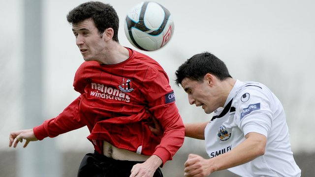 Match action from Crusaders against Lisburn Distillery