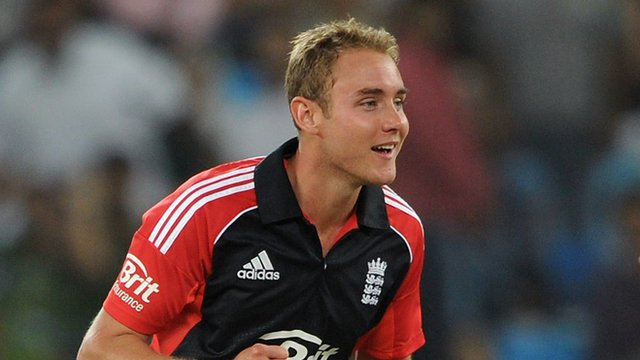 Twenty20 captain Stuart Broad