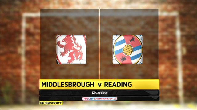 Middlesbrough 0-2 Reading