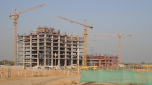 New offices being build in Gandhinagar, the capital of Gujarat
