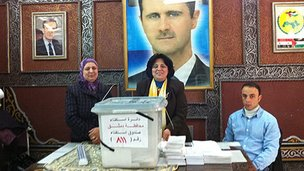 Polling station in Syria