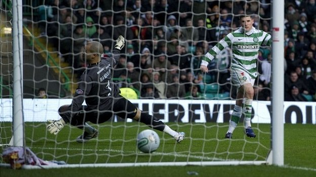 Hooper scored the only goal of the game against Motherwell