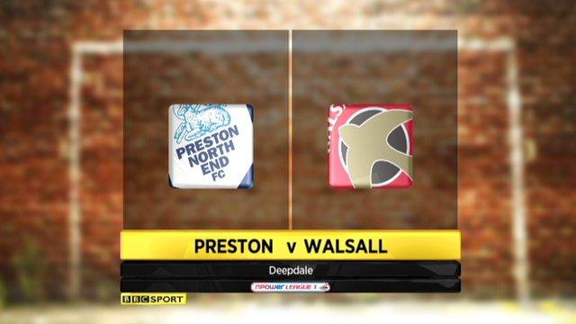 Preston 0-0 Walsall
