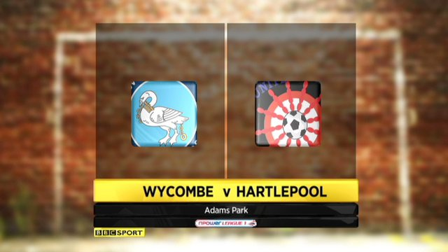 Wycombe 5-0 Hartlepool