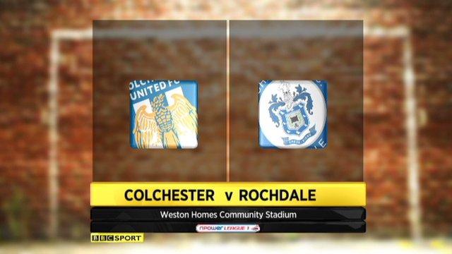 Colchester 0-0 Rochdale