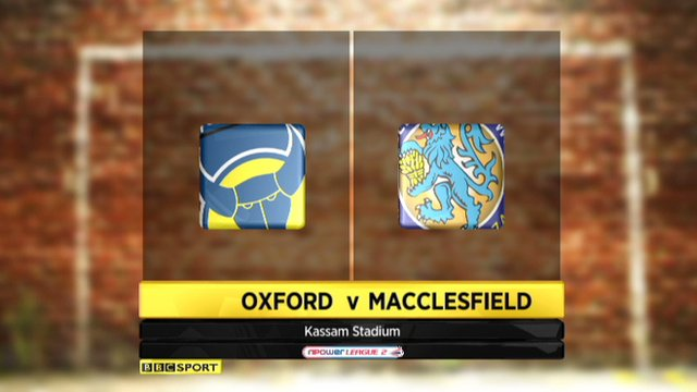 Oxford 1-1 Macclesfield