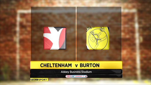 Cheltenham 2-0 Burton Albion
