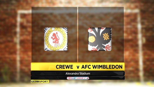 Crewe 3-3 Wimbledon