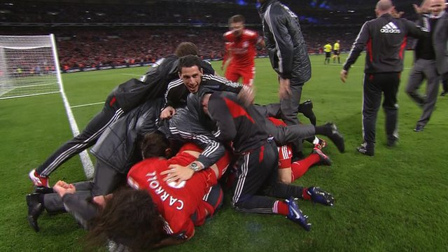 Liverpool celebrate victory