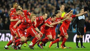 Liverpool players celebrte