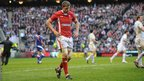 Rhys Priestland is disconsolate has he trudges to the sin-bin