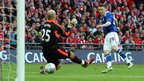 Joe Mason gives Cardiff the lead at Wembley after Kenny Miller finds him with a neat through pass, and the 20-year-old finishes neatly under Pepe Reina from eight yards out