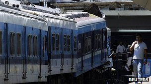 Crashed train in Buenos Aires. 22 Feb, 2012